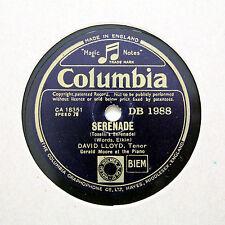 """David Lloyd (TENORE) """"SERENATA/fino a quando"""" COLUMBIA DB-1988 [78 rpm]"""