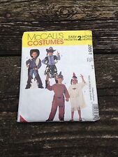 McCall's Children's Costumes Pattern #2851 - Size 3-4 Cowboy Cowgirl Indian