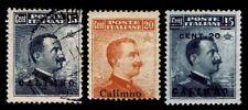 1912-21 ITALY - AEGEAN ISLANDS CALINO #9-11 - USED & NEW - FINE+ - $113 (E#1524)