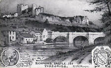 Richmond Castle, Yorkshire # 130 by R.P.Phillimore. Black & White.