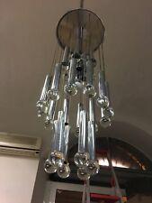 LAMPADARIO 60s SFERE VETRO MURANO SCIOLARI CHAINS BALLS PENDANT LAMP