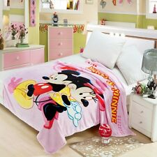 Disney Minnie Mouse Blanket Bedding Soft Warm Throw Flannel Plush Rug Cartoon Us
