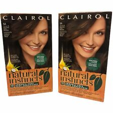 Lot of 2 Clairol Natural Instincts Hair Color 5A Former 24 Medium Cool Brown New