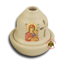 Orthodox Ceramic Hut Oil Candle 5 Colours Vigil Lamp Ikonenampel Ewiglicht