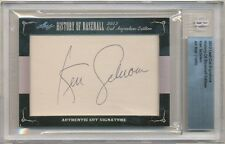 2012 LEAF CUT SIGNATURE KEN SCHROM AUTOGRAPH BECKETT GRADED