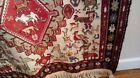"""Tribal rug 4"""" x 6.6"""" Handwove animals and features"""