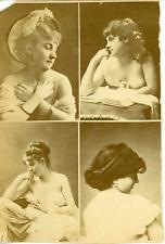 France, Portraits de femmes, ca.1885, vintage albumen print Vintage albumen prin