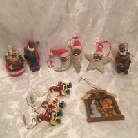 10 African American Holiday Christmas Ornaments SANTAS KINGS ANGELS & More