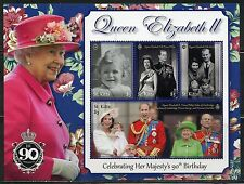 ST. KITTS  2017  90th BIRTH DAY OF QUEEN ELIZABETH II SET OF TWO SHEETS  MINT NH