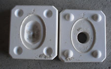 "Vintage Ceramic Byron Molds Small Shell Face Doll Mold 1 1/2"" Tall"
