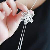Long Necklace Necklaces Sweater Chain Snowflake Pendant For Women Gift