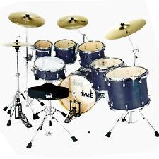 "Taye Pro X 5 Piece Fusion Drum Kit 22"" Bass Blue Satin Hardware"