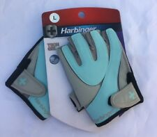Harbinger Women's Training Grip Weightlifting Gloves Sky Blue/Grey Large UK