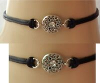 Circle Choker Necklace Handmade Silver Black Fashion NEW Collar Women Boho
