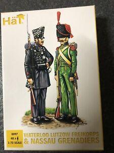 1/72 Napoleonic Waterloo Lutzow Freikorps & Nassau Grenadiers Infantry 8097