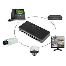 8-Port 10/100/1000Mbit/s POE Desktop Ethernet Smart Netzwerk Switch LAN Hub D26