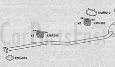 Exhaust Rear Box Mini Convertible 1.6 Petrol Convertible 06/2004 to 03/2006