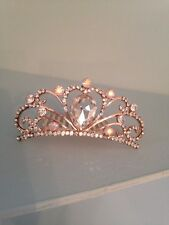 Diamond Hair Slide Tiara . Small Tiara On Comb. Childs Holy Communion Tiara Comb