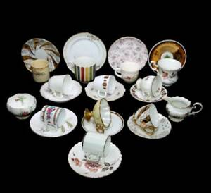 Vintage Mad Hatter's Tea Party 12 person 26 piece coffee set with jug & bowl