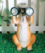 Solar Powered Meerkat With Binoculars Fun Garden Ornament Feature Patio Figure