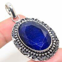 "Burmise Sapphire Handmade Ethnic Style Jewelry Pendant 2.17 "" VJ-5510"
