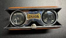 Jason Sport Glass Vintage Made in Japan Folding Binoculars Brown Opera Glasses