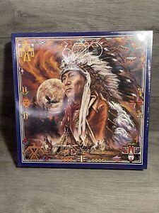 "Fx.Schmdt ""Spirit of the Full Moon"" Native American Jigsaw Puzzle  600 Pcs"