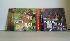 2 BRAND NEW Factory Sealed Sega Dreamcast Games NBA 2K1 & NFL 2K1