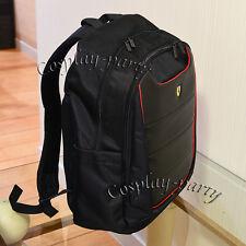 Ferrari SCUDERIA Rucksack BackPack Macbook Laptop School Travel Bags Black XL