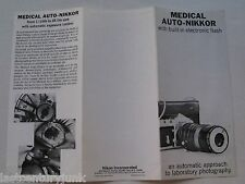Reference Guide For The Medical Auto Nikkor W/ Buitl In Electronic Flash