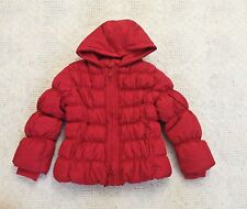 NWT GYMBOREE Cozy Cutie Red Ruffle Puffer Hooded Winter Jacket Girls 5-6 S