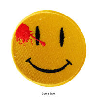 Watchman Dead Smiley Emoji Disney Embroidered Patch Iron on Sew On Badge
