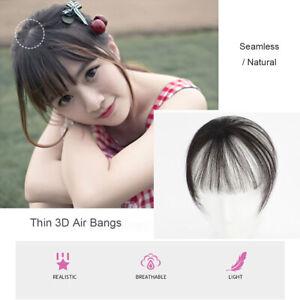 Thin 3D 360° Air Bangs Clip in Fringe Hairpiece 100% Human Hair Top Piece Bangs