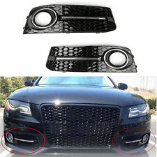 LH+RH Chrome Honey Comb Fog Light Cover Grille Grills For Audi A4 B8 09-12 C