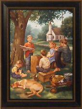 THE BIBLE TELLS ME SO by Charles Freitag 12x16 FRAMED PRINT Children Church