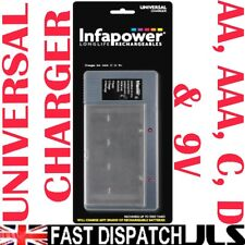 Universal Charger for AAA AA C D 9V Batteries DISCHARGE FUNCTION & TESTER