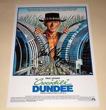 "CROCODILE DUNDEE PP SIGNED 12""X8"" POSTER PAUL HOGAN"