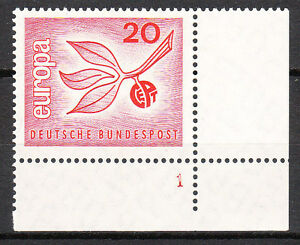 BRD 1965 Mi. Nr. 484 Postfrisch Eckrand 4 Formnummer 1 TOP!!! (9614)