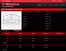 One Set (4 pcs) Semi-Metallic Disc Brake Pads MD370-7260 by New York Brake Co.