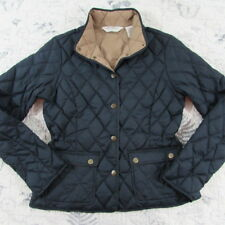 Eddie Bauer Packable Goose Down Womens Jacket Blue Snap front Quilted Small S