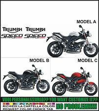 kit adesivi stickers compatibili  1050 speed triple 2011