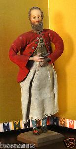 Detailed Antique Wax Creche Religious Craftsman Figure Nativity Doll AD5221114d