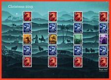 2019 LS118 Christmas Stamps Smiler Sheet.