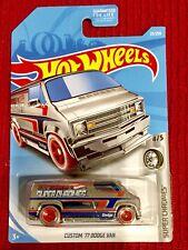 🏁 Hot Wheels 2018 Super Chromes Custom '77 Dodge Van 🏁