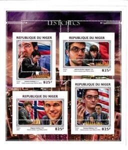 A2371 - NIGER - ERROR - MISPERF stamp sheet 2016 CHESS