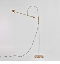 Orbiter II Task Floor Lamp Light Torchiere Home Office Lighting Brass Replica