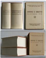 DONNE E DIRITTO Due secoli di legislazione 1796/1986 2 volumi in cofanetto