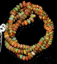 """1 Necklace 3to7.5 mm 16"""" Beads Natural Genuine Ethiopian Welo Fire Opal** 29"""