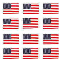 Wholesale lot 12 3' x 5' ft. USA US American Flags Stars Grommets United States