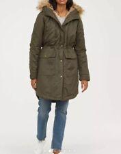 Brand New H&M Green Parka Jacket Size S